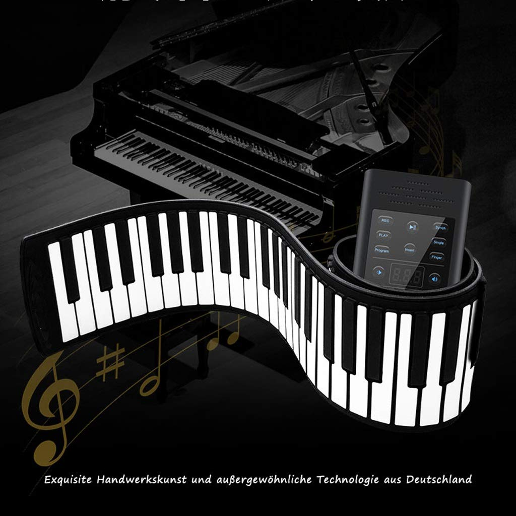 LINGLING-piano Hand Roll Piano 61/88 Key Hand Roll Piano Keyboard Thickening Professional Version Beginner Practice Portable Electronic Piano (Color : Black, Size : 61 Keys) by LINGLING-piano (Image #6)