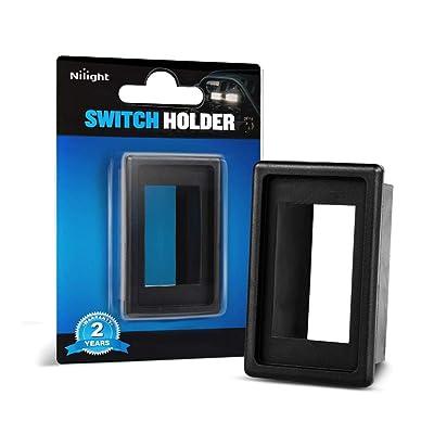 Nilight LED Light Bar Rocker Switch Holder Panel Switch Holder Housing Kit ABS Plastic Black Automotive Mount Toggle Switch Housing,2 years Warranty: Automotive