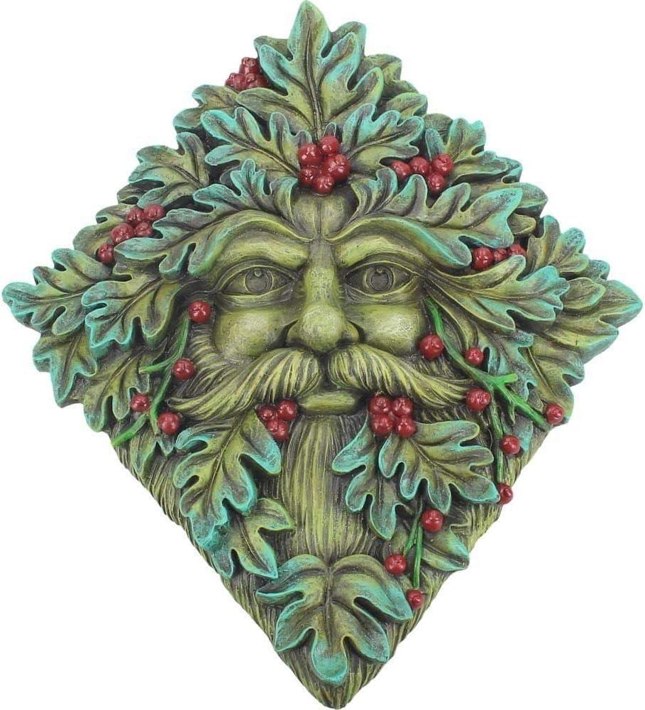 Nemesis Now Berry Beard Wall Plaque 24cm Green, Resin