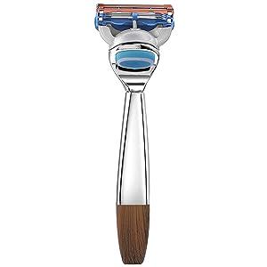 ACRIMAX Deluxe Men's Razors for Shaving, Shaving Razor Blades Refills and Anti Slip Razor Handle Compatible with Fusion 5 Blades