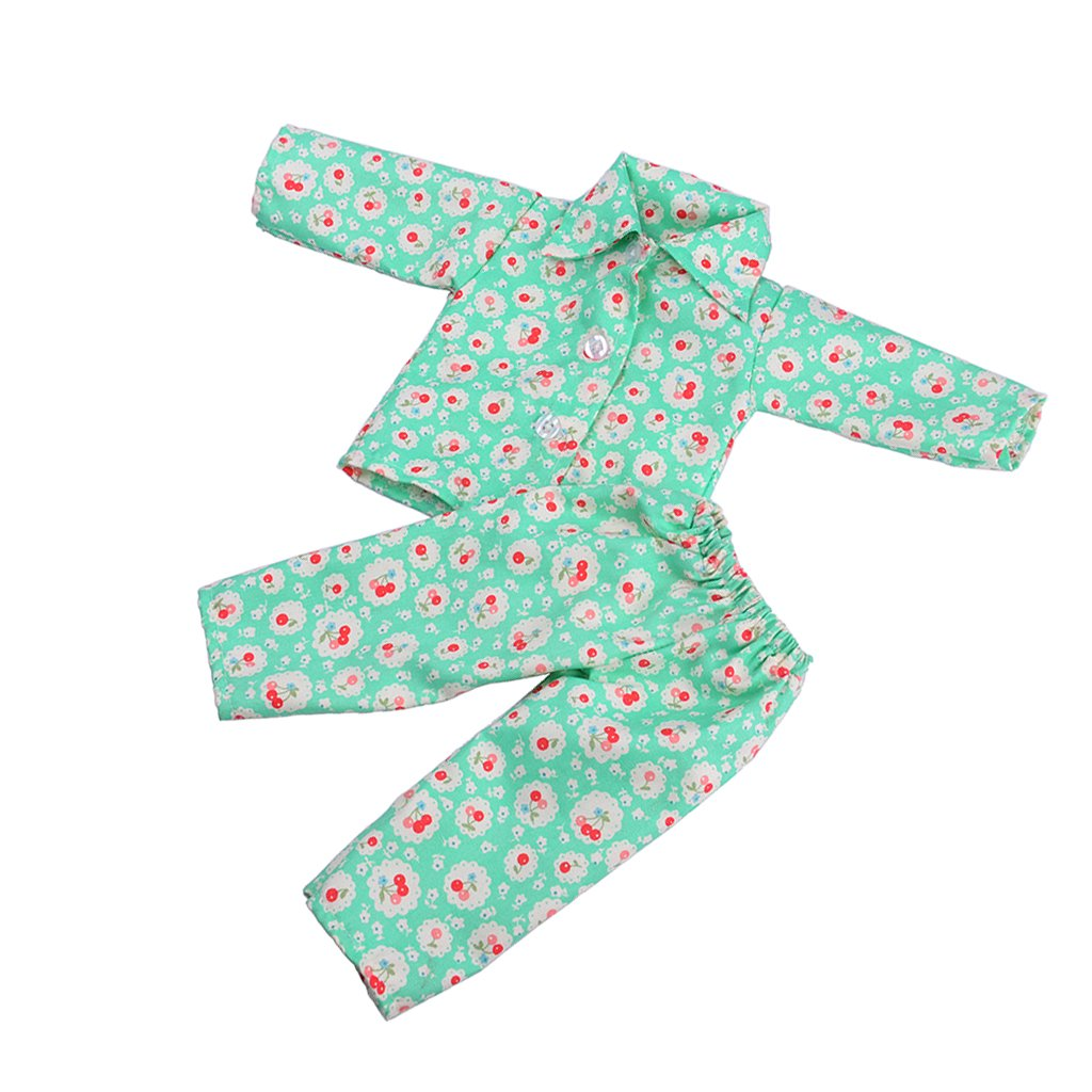 Jili Online Green Cheery Pajamas for American/Our Generation/Journey Girl 18 Inch Doll