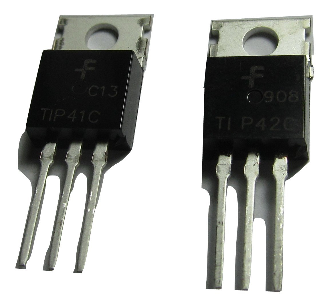 5 Pcs Of Tip41c Npn Tip42c Pnp Pairs 60w Transistored Power Amplifier Circuit Transistor 6a 100v To 220 Fsc Electronics