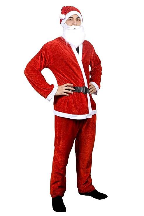 Disfraz de Papá Noel 5 piezas. terciopelo de Look Disfraz de ...