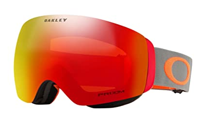 4244349bb Image Unavailable. Image not available for. Color: Oakley Flight Deck XM  Prizm Snow Goggles Dark Brush Orange with Prizm Torch Iridium