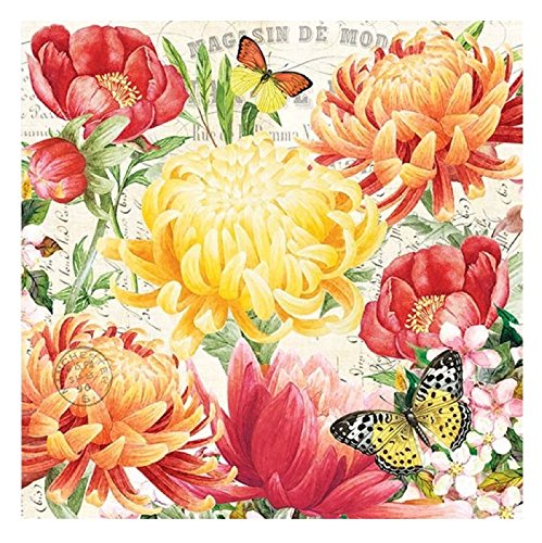 20-Count 3-Ply Paper Luncheon Napkins, Morning Blossoms Early Years Plates