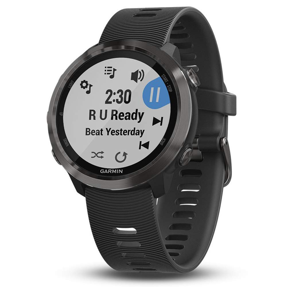 Garmin Forerunner 645 Music Bundle with Extra Band & HD Screen Protector Film (x4) | Running GPS Watch, Wrist HR, Music & Spotify, Garmin Pay (Slate + Music, Teal) by PlayBetter (Image #2)
