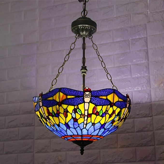 Amazon.com: CCSUN Tiffany - Lámpara de techo de techo ...
