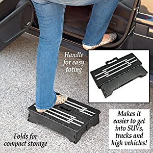 Collections Etc Portable Folding Step, Black