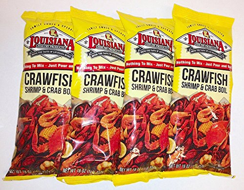 - Louisiana Crawfish Shrimp & Crab Boil Seasoning 16oz (4pk)