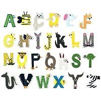 SUPVOX 26 unids Letras Inglesas Ropa Parches Costura