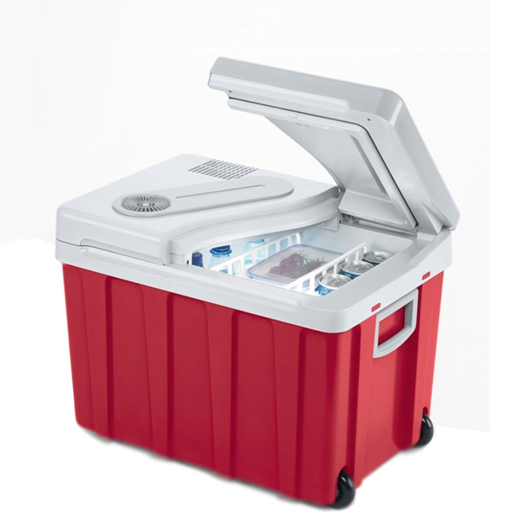 Peaceip 車の冷蔵庫冷凍屋外車の冷蔵庫12v24v車40L大容量のストレージ牛乳冷凍庫 (色 : Red 40L-CAR+HOME) B07DFT333C Red 40L-CAR+HOME Red 40L-CAR+HOME -