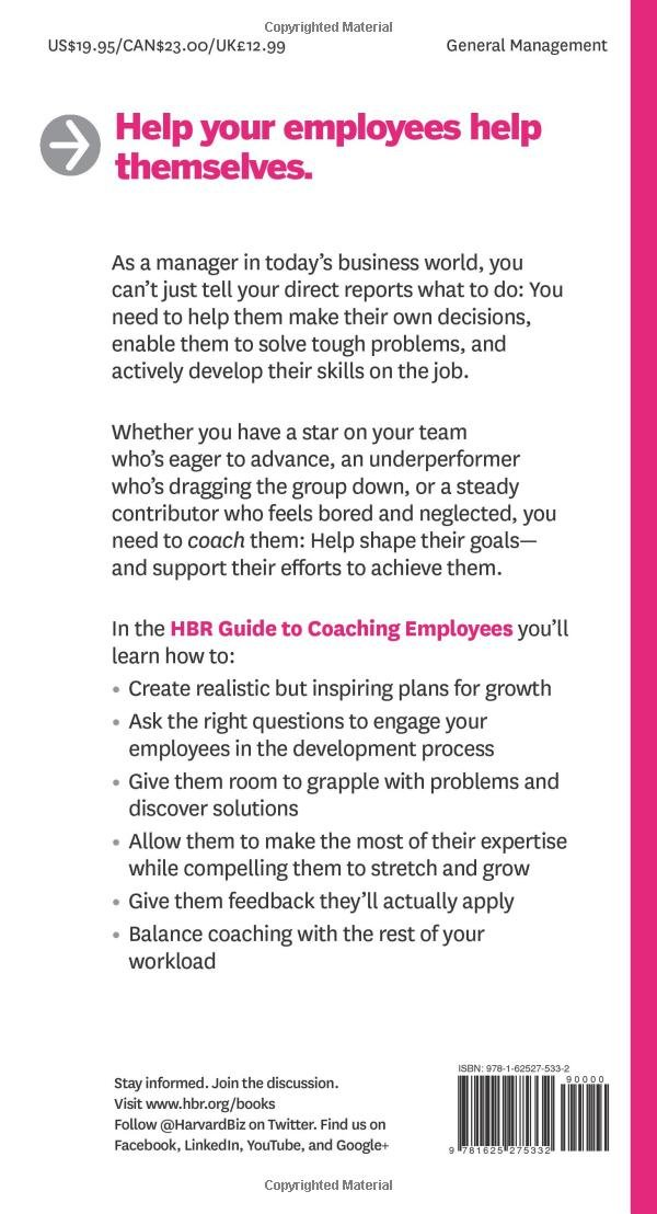 hbr guide to coaching employees hbr guide series amazon co uk rh amazon co uk Coaching New Employees hbr guide to coaching your employees amazon