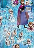 Disney – La Reine des Neiges – 2 Feuilles d'Emballage Cadeau + 2 Etiquettes