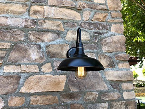 AA Warehousing EL0523IB Lora 1 Outdoor Wall-Lighting, Imperial Black with Gold/Brass Trim - Voltage:100 This light fixture is dimmable. - patio, outdoor-lights, outdoor-decor - 61PzMn0FDsL -