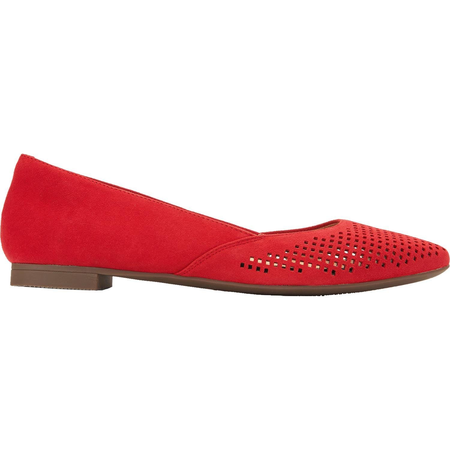 Vionic Womens Gem Posey Ballet Flat, Red, Size 8 by Vionic