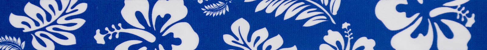 Country Brook Design | 1/2 Inch Royal Blue Hawaiian Photo Quality Polyester,50 Yards