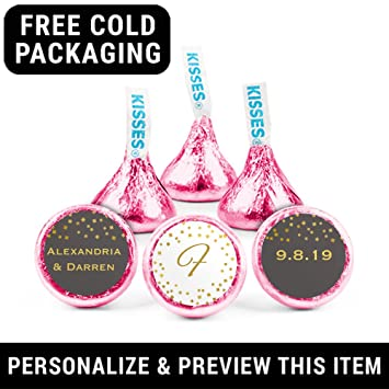 Amazon Wedding Favors Personalized Hersheys Kisses Pinkcandy