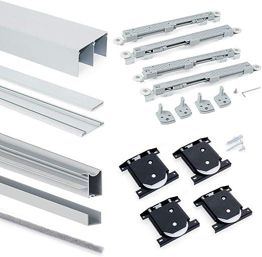 EMUCA Sistema para Puertas correderas, Aluminio,Acero y plástico ...
