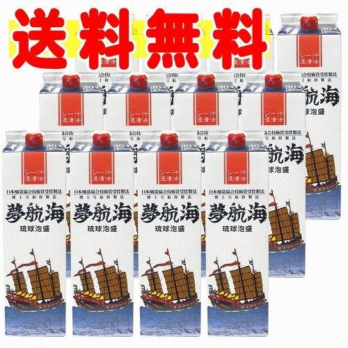 忠孝酒造 夢航海 30度 紙パック1800ml×12本 B01835PYAO