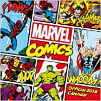 Marvel Comics Classic Official 2018 Calendar - Square Wall