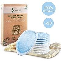 10 Wiederverwendbare Abschminkpads aus Bambus, Nachhaltige Reinigungspads Extrem Weich, Less Waste- INKL. 100% Baumwolle Wäschebeutel