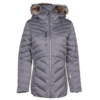 f02f1cc783f Amazon.com  Nils Womens Sonja Faux Fur Chinchilla Jacket  Sports ...