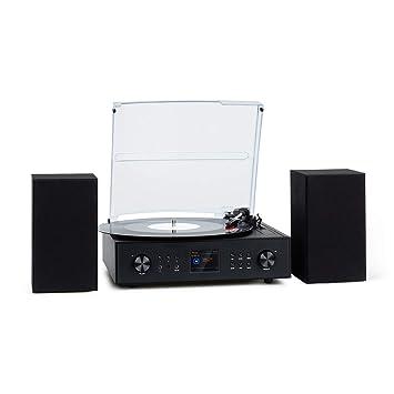 auna Connect Vinyl Radio con Tocadiscos - Potencia máxima de Salida de 40 W, estéreo, SmartRadio: Internet / Dab/Dab+ / FM, Tocadiscos de 33 / 45 / 78 ...