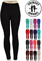 Unibody Apparel 1 or 6 Pack Soft Fleece Lined Leggings – (Plus Sizes Available)