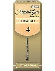 Mitchell Lurie Premium Bb Clarinet Reeds, Strength 4.0, 5-pack