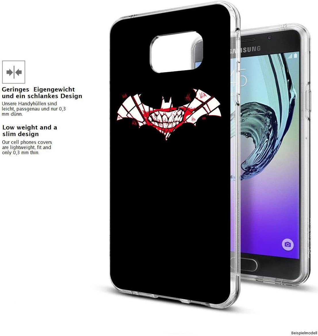 Samsung Galaxy S8 Weiche Flexible lizensierte Silikon-Handy-H/ülle Batman Joker Logo Transparente TPU Cover Schale mit Batman Motiv Finoo Tasche Case mit Ultra Slim Rundum-Schutz