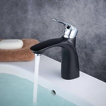 Waschtischarmatur Schwarz waschtischarmaturen bad schwarz chrom einloch deckmontage messing