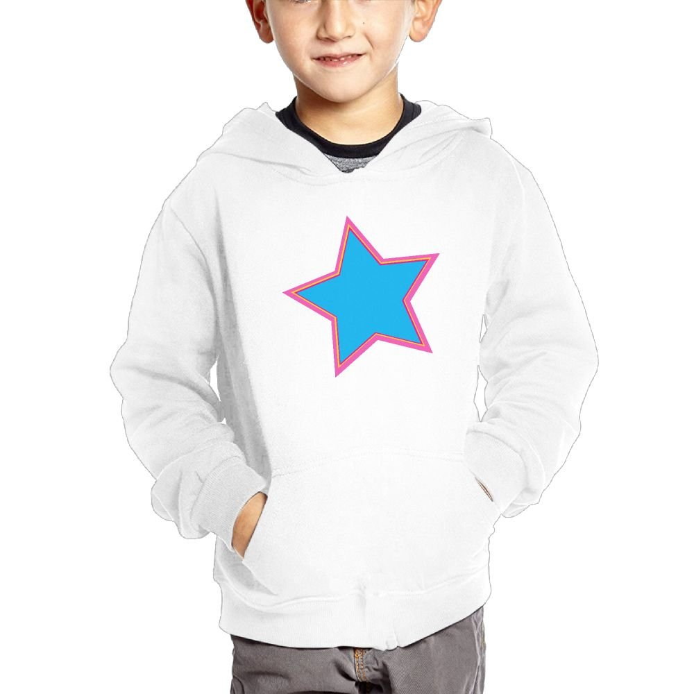 Star Shape Kids Fashion Popular Hooded Hoodies With Pocket