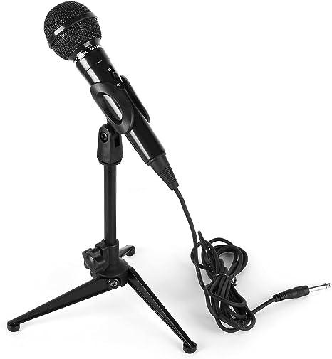 Micrófono dinámico karaoke con soporte de mesa (Micro cardial ...