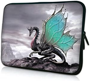 iBenko 11.6-12 inch Chromebook Case Neoprene Laptop Bag Sleeve Compatible with Dell Chromebook 11-5190/ASUS Chromebook C202 C214 C302/Lenovo Chromebook C330 C340/Samsung Chromebook 3 2(Wing Dragon)