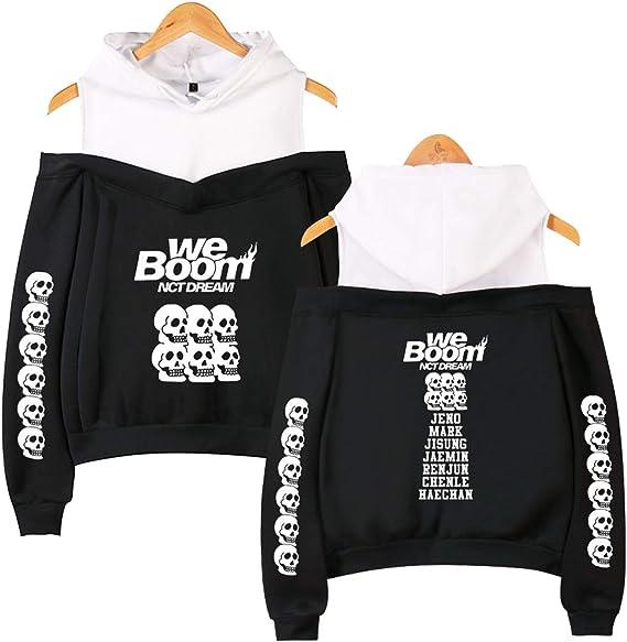 NCTCITY NCT Dream Sweat-Shirts /à Capuche Kpop Cat Ear Crop Top Hoodie WE Boom Imprime Hip Hop Pullover Manches Longues Pull /à Capuche Sweats Jisung Chenle Jeno HAECHAN Mark JAEMIN RENJUN