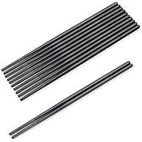SHARECOOK Chopsticks Set, 18/10 Stainless Steel Metal Chopsticks, 9.45 Inches Reusable Chopsticks for Dinner, Easy to…