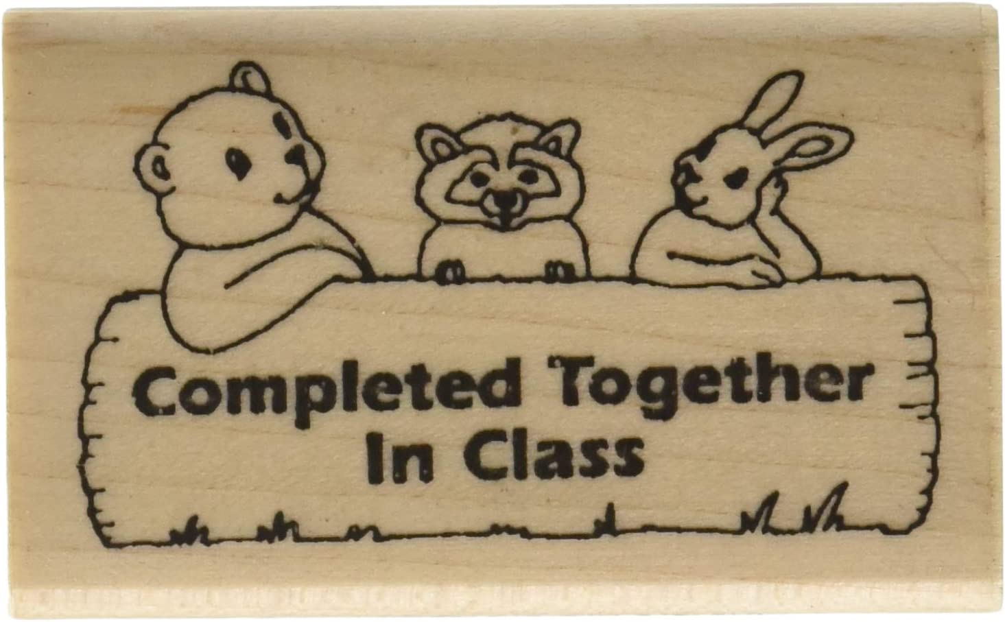 """Stamps by Impression Completed Together In Class Teacher Rubber Stamp, 1.5"""" x 2.5"""""""