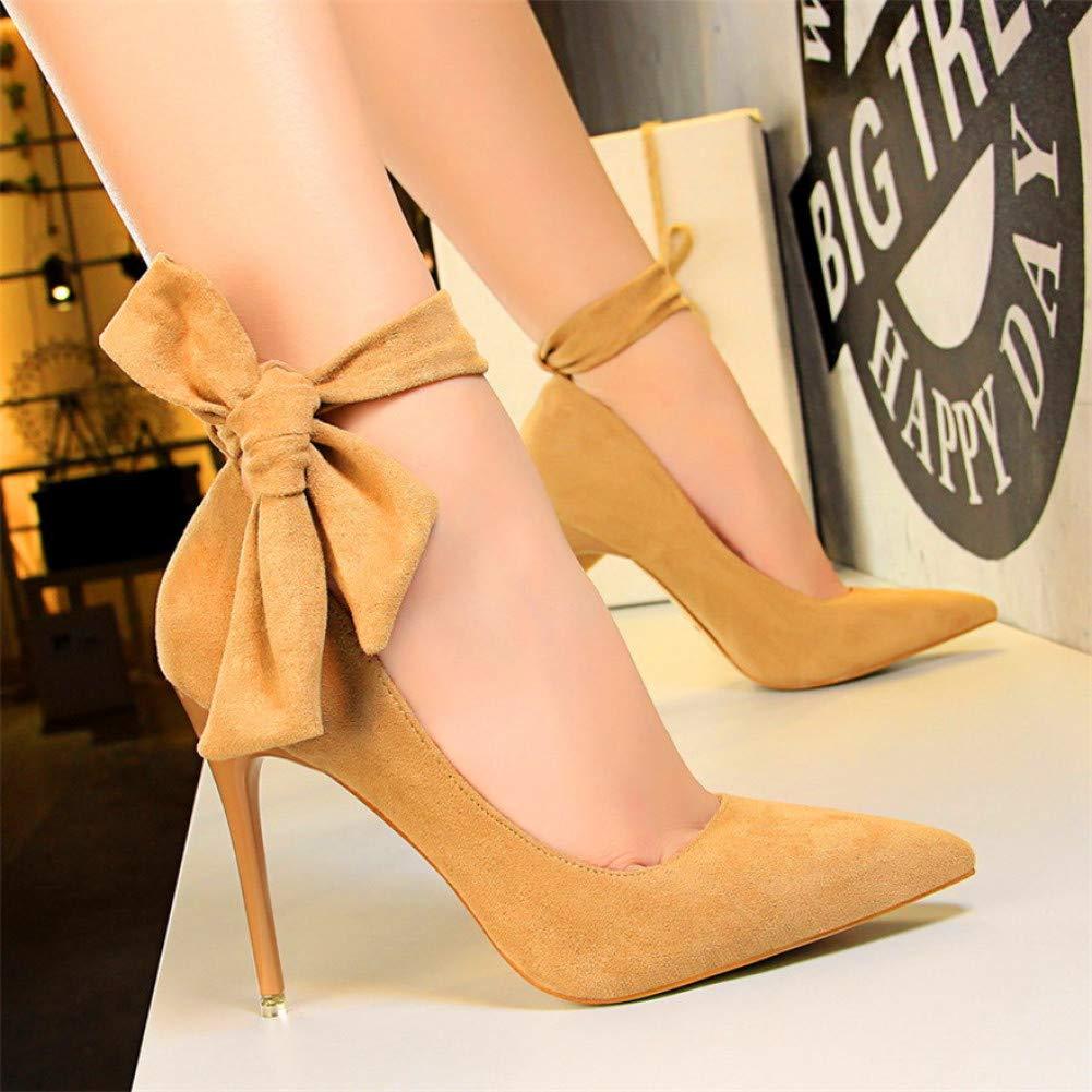 XSY Klassische Ankle Lace-Up Bowknot Frau Schuhe High Heels Schuhe Party Schuhe Mode Frauen Pumps  | Ausgezeichnet (in) Qualität  | Attraktive Mode