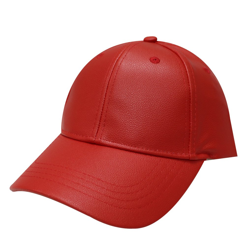 City Hunter Lc100 Plain Leather Cap (Red) at Amazon Women s Clothing store   Baseball Caps 27a33dd51e3c