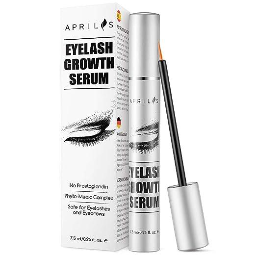 5a258f17934 Amazon.com: Aprilis Eyelash Growth Serum, 7.5ml Natural Eyelash Growth  Enhancer & Brow Serum for Long, Luscious Lashes and Eyebrows: Beauty
