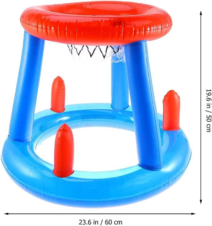 LIOOBO Canasta Hinchable Canasta Flotante Juguete de Baloncesto Jueguete de Arena Playa Piscina Juego Favor para Fiesta de Verano (Azul): Amazon.es: Juguetes y juegos