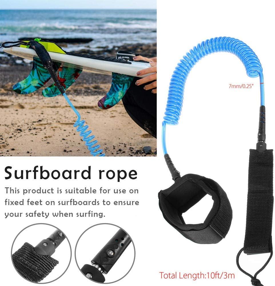 Surf Leash Surfleine Ankle leash for surfboard 10FT SUP Leash curled