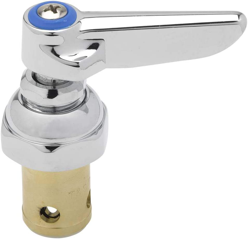 T/&S Brass 002713-40 Spindle Assembly for Eterna Valve Replacement Cold Side Handle Stem Assembly Replacement Fits all T/&S Faucets. 2