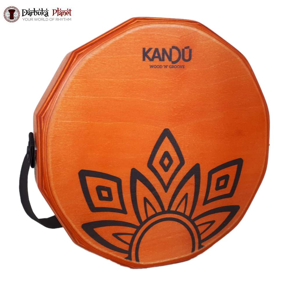 KTÄK -The First Handcrafted, Hand Drum Percussion, Two-Sound Cajón Body Snare, Portable Cajon by Kandu (Dragon Fire) by Kandu