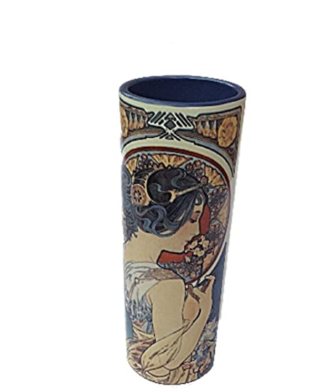 Mucha Lady Vase After Alphonse Mucha Cowslipfeather 1899 Boxed