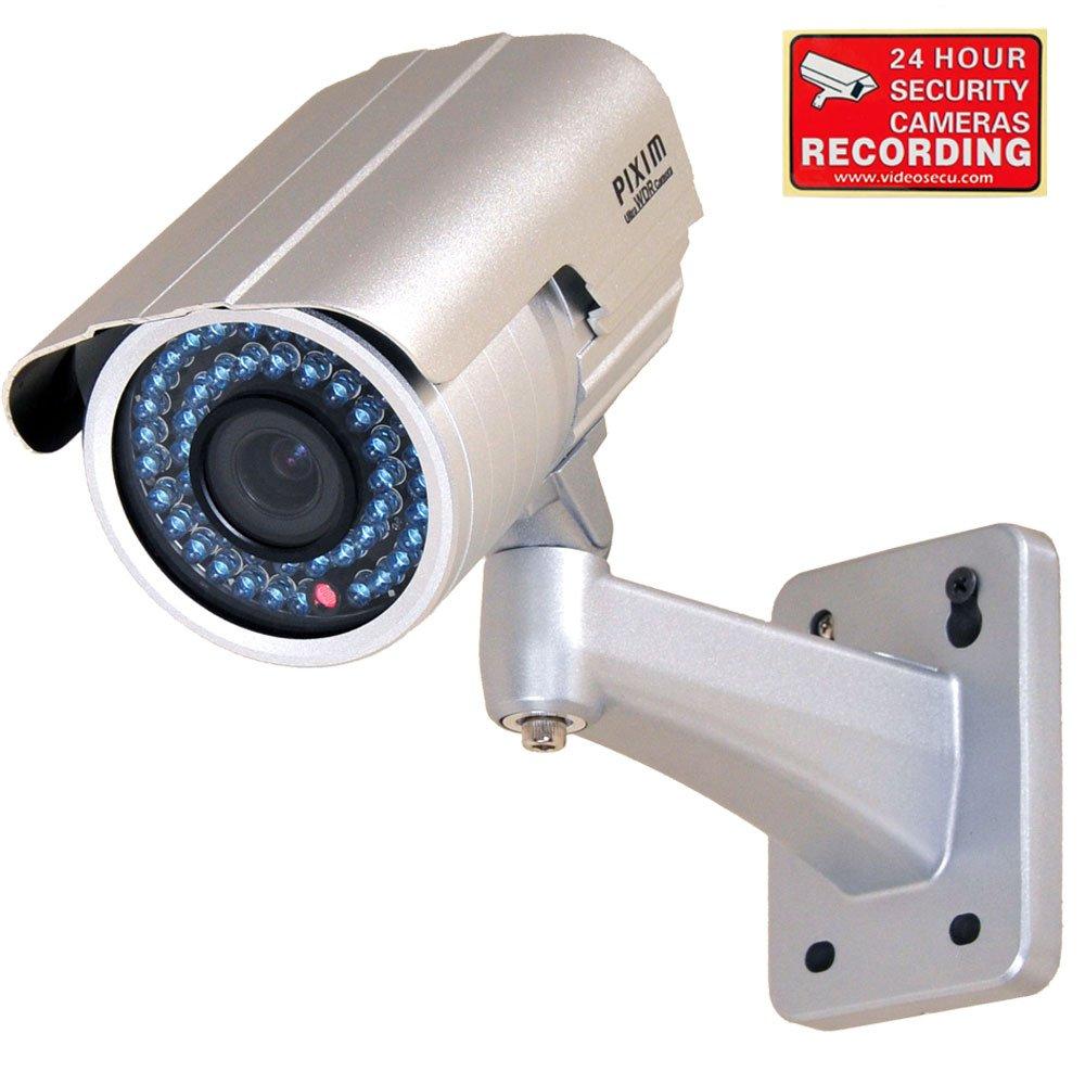 VideoSecu Outdoor Day Night Vision Infrared IR Bullet Security Camera 1/3'' Pixim Color CCD 690TVL High Resolution WDR OSD 6-15mm Vari-focal Lens for CCTV DVR Home Surveillance System 1WR