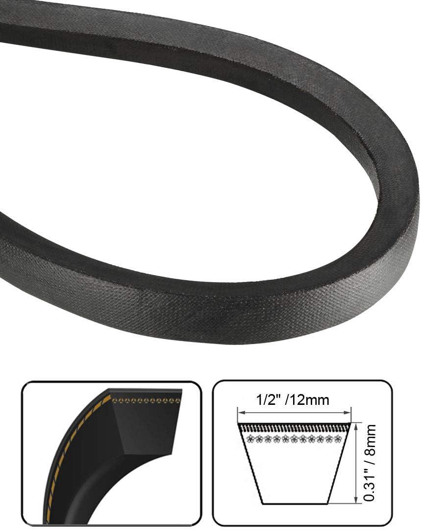 uxcell A-52 Drive V-Belt Girth 52-inch Industrial Power Rubber Transmission Belt