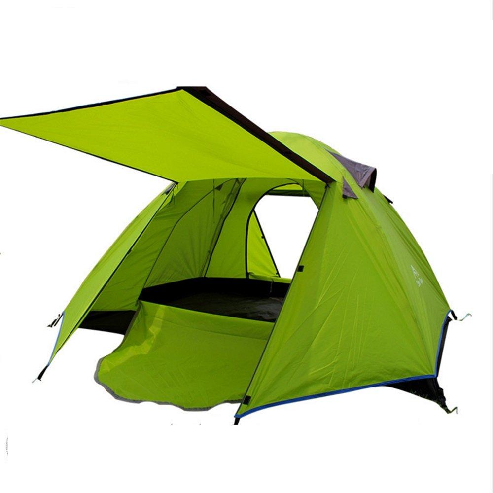 アウトドアキャンプキャンプテントダブルダブルレインブーステイルフルーツグリーン   B07C1JGTLG