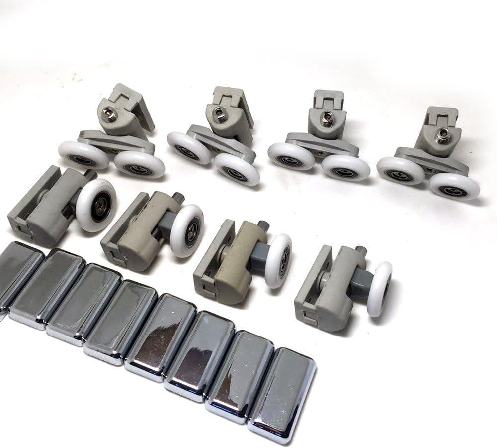 8 x para mampara de ducha de repuesto rueda de rodillo Runner diámetro 25 mm: Amazon.es: Bricolaje y herramientas