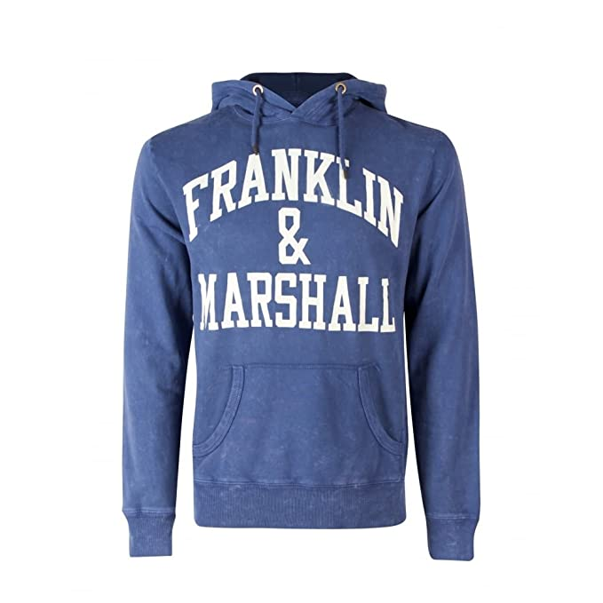 Franklin & Marshall - Sudadera con capucha - para hombre Azul FLMF250ANW17 | Navy Large